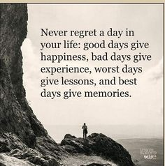 That's the best way to look at it, life is always a lesson.