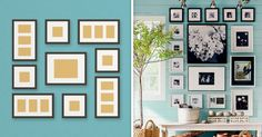 Six original ideas for hanging picture frames at home