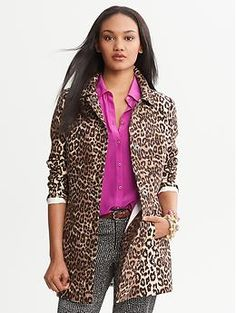 Animal Print Coat - looks like a great addition for the cool nights & just to look kool!