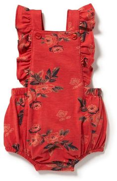 Printed Ruffled Romper for Baby