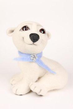 МК по валянию медвежонка Снежка - Ярмарка Мастеров - ручная работа, handmade