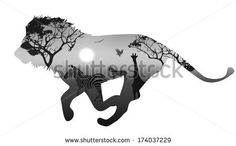 Image from http://thumb7.shutterstock.com/display_pic_with_logo/1476860/174037229/stock-vector-silhouette-running-lion-inside-savannah-landscape-with-silhouettes-of-animals-and-trees-at-sunset-174037229.jpg.