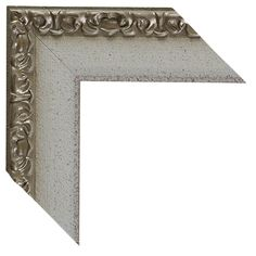 Custom Size Mirror In White Silver Frame.