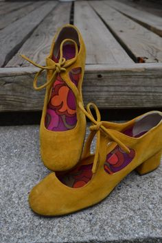 Vintage Suede Shoes by TheHomeGnome on Etsy