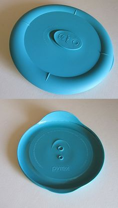 Pyrex Deluxe - Turquoise 5 Cup Round Bowl Vented Lid