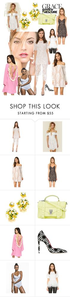 """Grace!"" by lalu-papa ❤ liked on Polyvore featuring For Love & Lemons, Mercedes Salazar, Proenza Schouler, Dsquared2, Repetto and endless rose"