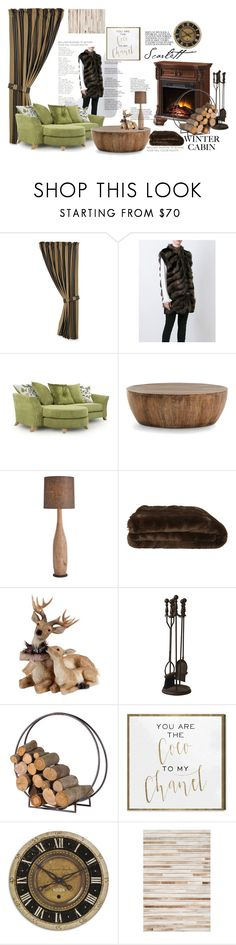 """""""Cabin Style"""" by astellaatelier ❤ liked on Polyvore featuring interior, interiors, interior design, home, home decor, interior decorating, HiEnd Accents, Alberta Ferretti, Arteriors and Olivier Desforges"""