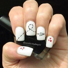 30 ideas which nail polish to choose - My Nails Simple Nail Art Designs, Short Nail Designs, Cute Nail Designs, Cute Acrylic Nails, Cute Nails, Pretty Nails, Perfect Nails, Gorgeous Nails, Red Nail Art