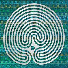 Labyrinth Art - A design patterned after the turf labyrinth of Steigra, Saxony-Anhalt, Germany