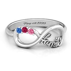 Family Infinite Love with Stones Ring #jewlr