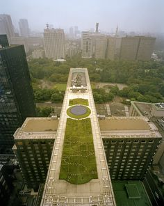 A green roof on Tokyo's Imperial Hotel, part of the city's mandate to reverse the heat island effect.