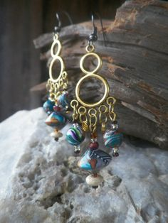 My Fair Lady... Chandelier Polymer Earrings by ClayfulIntentions, $13.00