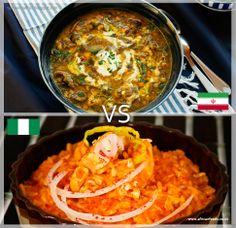 Es hora del 2do encuentro del dia! Iran vs Nigeria, quien ganara en este partido?? El arroz jellof de nigeria o el abgousht bozbash de iran.