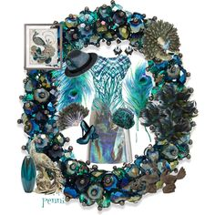 Colors of a Peacock by penni-13 on Polyvore