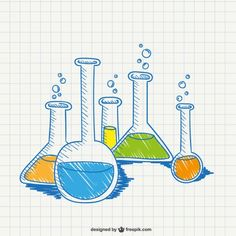 Chemistry Conceptual Drawing Free Vector