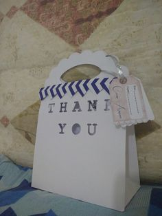 Sacolinha Thank You para presente (made by plotter silhouette) #gift.personalizados.canaa