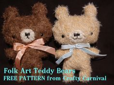 teddy bear template - make out of fluffy fleece instead of mohair and make head less oval with eyes closer together