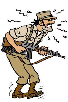 Les Aventures de Tintin - Général Alcazar <<¡MIL BOMBAS !