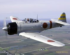 """Mitsubishi A6M Zero.  The A6M is universally known as the """"Zero"""" from its Japanese Navy type designation, Type 0 Carrier Fighter (Rei shiki Kanjō sentōki, 零式艦上戦闘機), taken from the last digit of the Imperial year 2600 (1940), when it entered service. In Japan, it was unofficially referred to as both Rei-sen and Zero-sen; Japanese pilots most commonly called it Zero-sen."""