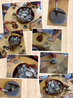 & Water Painting stones with water.great set-up on the science area table for a few daysPainting stones with water.great set-up on the science area table for a few days Reggio Emilia, Reggio Classroom, Outdoor Classroom, Play Based Learning, Early Learning, Preschool Activities, Preschool Art, Arte Elemental, Tuff Spot