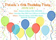 Create a an Online Birthday Party Invitation by kool27