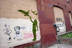 green graffiti by edina tokodi