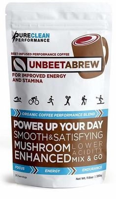 UnBEETaBrew - The World's First Beet-Infused Performance Coffee to help you power up your day   Smooth & Satisfying, Mushroom-enhanced with lower acidity   PureClean Performance is the physician-formulated, athlete-endorsed brand of nutritional supplements made exclusively from fruits, vegetables, and herbs.   Click thru to find out more and to order   #coffee #athletes