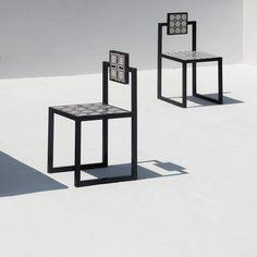 Tiles Outdoor Square Iron Chair - Shop Francesco Della Femina online at Artemest