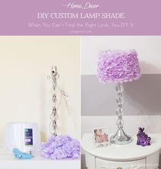 DIY Custom Lamp Shade for your room. Great ideas for: maternity project, nesting project, custom lamp shades, DIY project, home DIY projects.