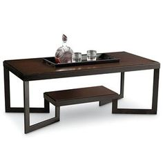 Kennedy Coffee Table with Removable Tray and Metal Frame by Lane - Becker Furniture World - Cocktail or Coffee Table Twin Cities, Minneapolis, St. Paul, Minnesota
