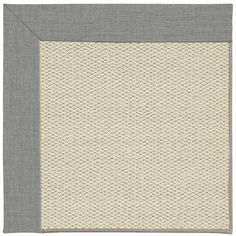 Capel Inspirit Linen Machine Tufted Steel/Beige Area Rug Rug Size: Square 6'
