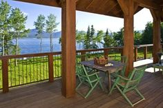Island Park, Idaho Residence - rustic - deck - other metro - EverLog™ Systems: Worry Free Concrete Logs