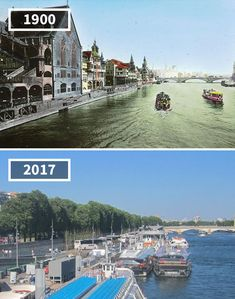 81 Before & After Pics Showing How The World Has Changed Over Time By Re. Then And Now Pictures, Old Pictures, Funny Pictures, Manila Philippines, New York, Paris City, London Photos, Old Buildings, Tour Eiffel