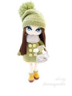 Free Crochet, Knit Crochet, Crochet Hats, Pretty Dolls, Cute Dolls, Knitted Dolls, Crochet Dolls, New Dolls, Waldorf Dolls