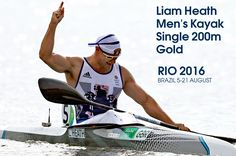 Great Britain's Liam Heath picked up his second medal at Rio 2016 with victory in the men's kayak single sprint. Canoeing, Kayaking, Liam Heath, Rio Olympics 2016, 200m, Rio 2016, Great Britain, Victorious, Sailing