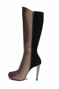 Joaquim Ferrer Croc-Embossed Long Boots