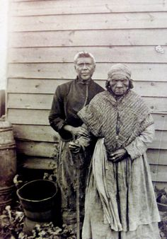 Copy photo of Sylvia Dubois with her daughter Elizabeth Alexander (circa 1883). Dubois was the daughter of a slave of a Somerset County hotel , NJ. . FROM THE COLLECTIONS OF THE HUNTERDON COUNTY HISTORICAL SOCIETY
