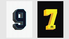 Beautiful Numbers | Iconic Kit Typography by Umbro
