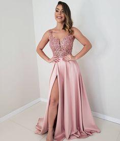 Pink Long Prom Dresses satin Evening Dresses A-Line Formal Dresses CR 5949 Best Formal Dresses, Prom Dresses Long Pink, Prom Dresses For Teens, Bridesmaid Dresses, Wedding Dresses, Prom Gowns, Homecoming Dresses, Party Dresses, Classy Evening Gowns