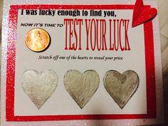 Homemade scratch offs for my boyfriend #valentinesday #diy