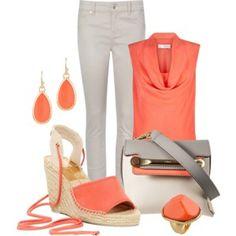 Skinny jeans & wedge sandals
