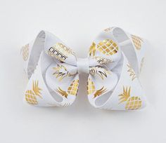Gold Pineapple Hair Bow