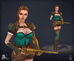 Steampunk girl by DmitryGrebenkov.deviantart.com on @DeviantArt
