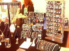 my jewelry booth at the craft shows