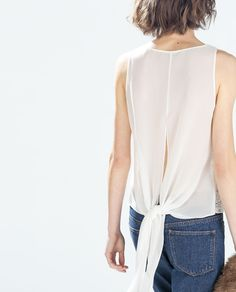 Image 3 of BACK-TIE TOP from Zara