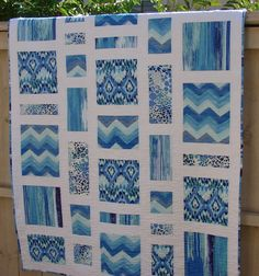 Modern Patchwork Quilt Throw Blanket Bed Coverlet in by susiquilts