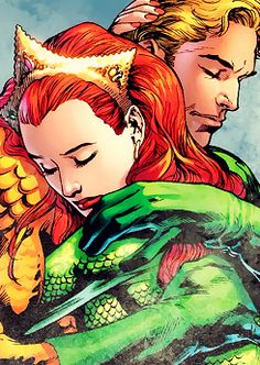 Mera, Aquaman ®  Yet another kick-ass red-haired DC heroine. Also, they probably have the healthiest relationship ever