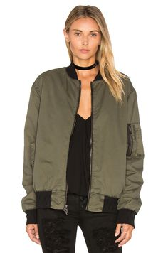 Have to be CHEAPER though! Hudson Jeans Gene Bomber Jacket in Trooper Green