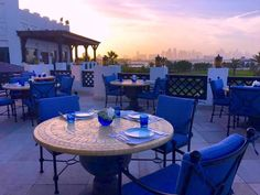The subtle shades of a Doha sunset set the scene for an elegant dining experience at Parisa.