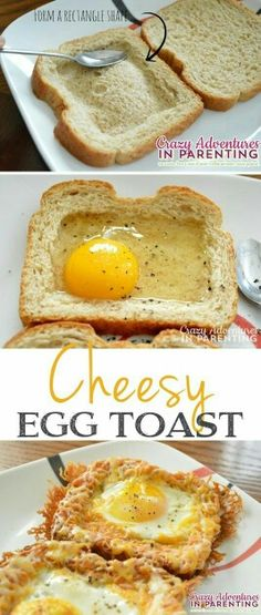 Baked Egg Toast - Quick, fast and easy breakfast recipe ideas for a crowd. Cheesy Baked Egg Toast - Quick, fast and easy breakfast recipe ideas for a crowd.Cheesy Baked Egg Toast - Quick, fast and easy breakfast recipe ideas for a crowd. Breakfast And Brunch, Breakfast Dishes, School Breakfast, Fun Breakfast Ideas, Breakfast Casserole, Egg Recipes For Breakfast, Quick And Easy Breakfast, Avacado Breakfast, Fodmap Breakfast